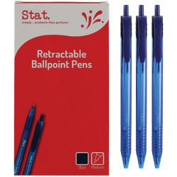Stat Retractable Ballpoint Pen Medium 1mm Blue