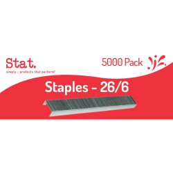 Stat Staples Size 26/6 Box of 5000