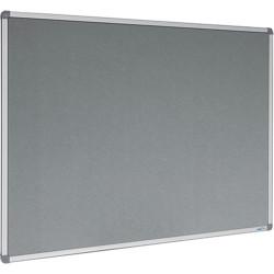 Visionchart Felt Pinboard 900x600mm Aluminium Frame Grey