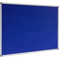 Visionchart Felt Pinboard 1200x900mm Aluminium Frame Royal Blue