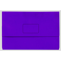 Marbig Slimpick Document Wallet Foolscap Manilla 30mm Gusset Purple Pack Of 10