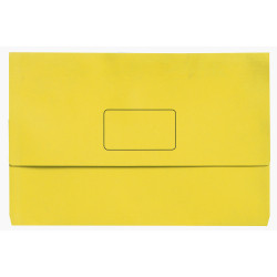 Marbig Slimpick Document Wallet Foolscap Manilla 30mm Gusset Yellow Pack Of 10