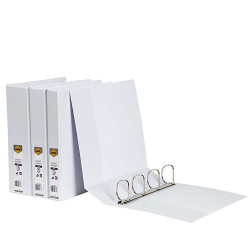 Marbig Clearview Insert Binder A4 2D Ring 25mm White