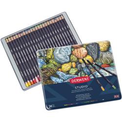 Derwent R32197 Studio 24 Pencils Assorted Tin Pack Of 24