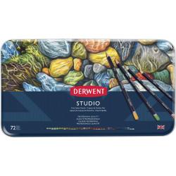 Derwent R32200 Studio 72 Pencils Assorted Tin Pack Of 72