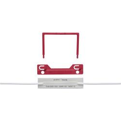 AVERY TUBECLIP FILE FASTENER Base U Piece Compress Bar Red