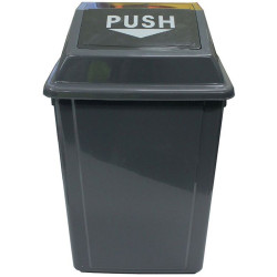 Cleanlink Rubbish Bin with Bullet Lid 25 Litres Grey