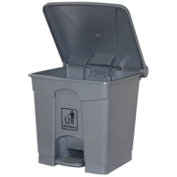Cleanlink Rubbish Bin with Pedal Lid 68 Litres Grey