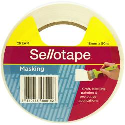 Sellotape Masking Tape 18mmx50m Beige