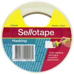 Sellotape Masking Tape 24mmx50m Beige