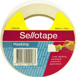 Sellotape Masking Tape 48mmx50m Beige