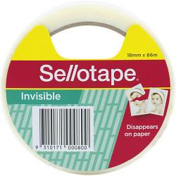 Sellotape Finishing Tape Matt 18mmx66m Invisible Tape