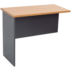 Rapidline Melamine Desk Return 730Hx1200Wx600D Beech and Ironstone