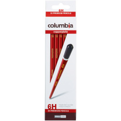 Columbia Copperplate Pencil Hexagon 6H Pack Of 20