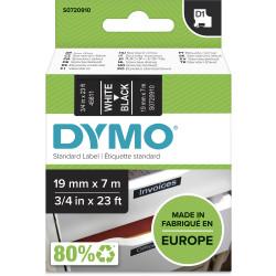 Dymo D1 Label Cassette Tape 19mmx7m White on Black