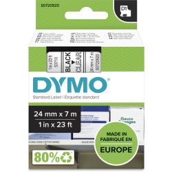 Dymo D1 Label Cassette Tape 24mmx7m Black on Clear