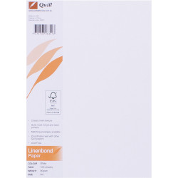 Quill Parchment Paper A4 90gsm Ripplebond White Pack of 100