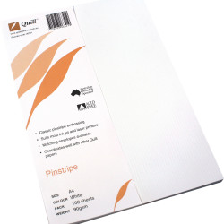 Quill Pinstripe Paper A4 118gsm White Pack of 100