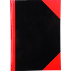 Cumberland Black & Red Notebook Gloss A4 100 Leaf