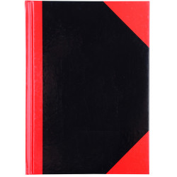 Cumberland Black & Red Notebook Gloss A5 100 Leaf