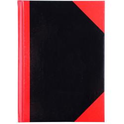Cumberland Black & Red Notebook Gloss A5 200 Leaf