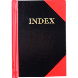 Cumberland Black & Red Notebook Gloss A7 100 Leaf Indexed