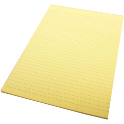 Quill Ruled Colour Bond Pad A4 70 Leaf Yellow