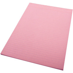 Quill Ruled Colour Bond Pad A4 70 Leaf Pink