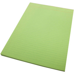 Quill Ruled Colour Bond Pad A4 70 Leaf Green