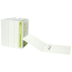 Marbig Clearview Insert Binder A5 2D Ring 25mm White
