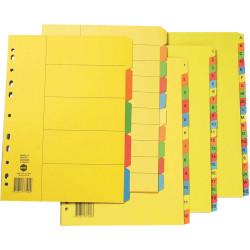 Marbig Manilla Divider A4 1-20 Tab Bright Colours