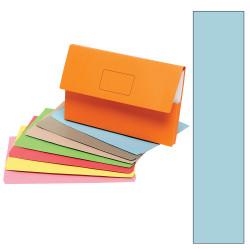 Marbig Slimpick Document Wallet Foolscap Manilla 30mm Gusset Blue