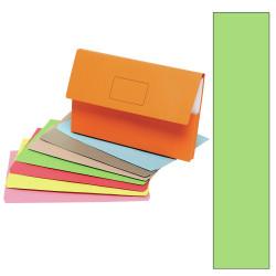 Marbig Slimpick Document Wallet Foolscap Manilla 30mm Gusset Green