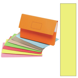 Marbig Slimpick Document Wallet Foolscap Manilla 30mm Gusset Yellow