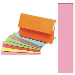 Marbig Slimpick Document Wallet Foolscap Manilla 30mm Gusset Pink