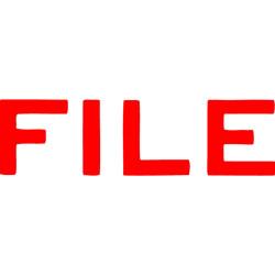 XStamper Stamp CX-BN 1051 File Red
