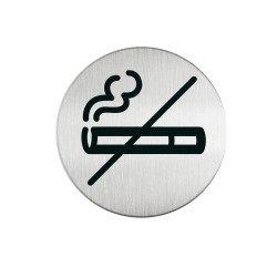 Durable Pictogram Sign No Smoking 83mm Silver