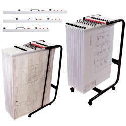 Planhorse Mobile 1000 Trolley A0, 1000 Sheet Capacity
