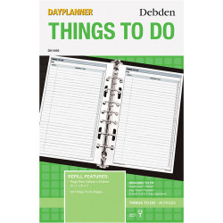 Debden Dayplanner Refill Things To Do 216X140Mm