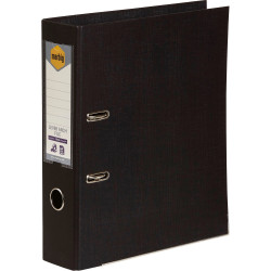 Marbig Linen PE Lever Arch Binder A4 75mm Black