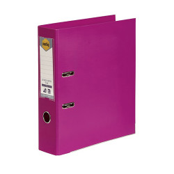 Marbig Linen PE Lever Arch Binder A4 75mm Pink